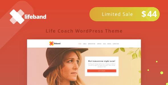 Lifeband - قالب وردپرس مربی زندگی