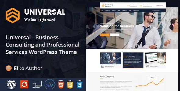قالب Universal - قالب وردپرس مشاوره کسب و کار و خدمات حرفه ای