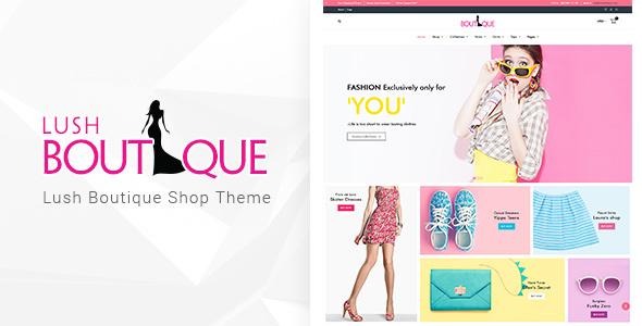 قالب Lush Boutique - قالب فروشگاهی وردپرس
