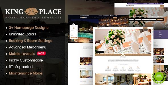 قالب KingPlace - قالب وردپرس رزرو هتل