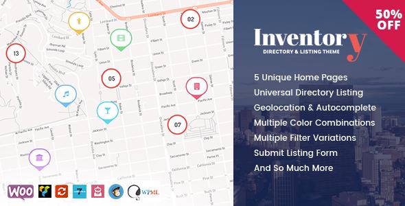 قالب Inventory - قالب وردپرس دایرکتوری