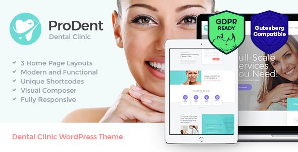 قالب ProDent - قالب وردپرس مطب پزشکی و دندانپزشکی