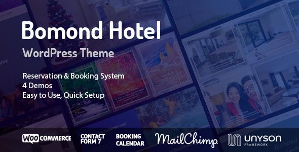 قالب Bomond - قالب وردپرس هتل