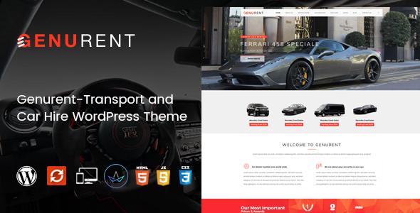 قالب Genurent - قالب وردپرس حمل و نقل و کرایه ماشین