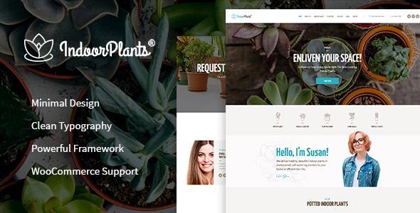 قالب Indoor Plants - قالب وردپرس باغبانی و گیاهان دارویی