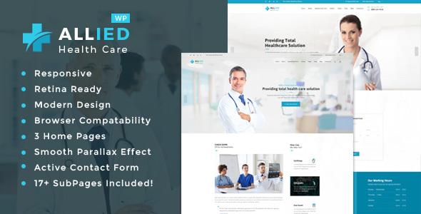 قالب Allied Health Care - قالب سلامتی و پزشکی وردپرس