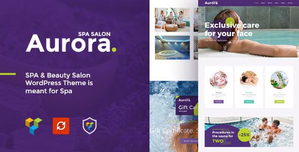قالب Aurora - پوسته وردپرس سالن زیبایی و اسپا