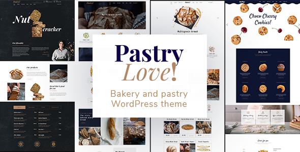 قالب Pastry Love - قالب وردپرس شیرینی پزی و نانوایی
