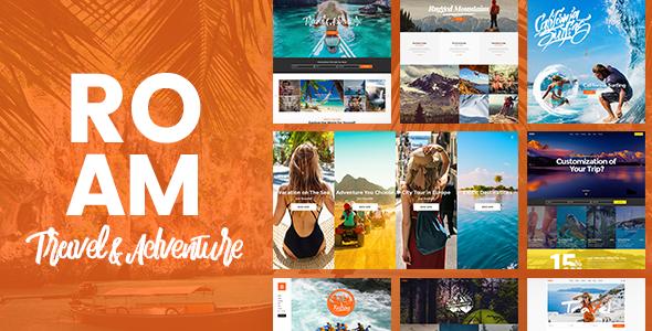 قالب Roam - قالب وردپرس سایت گردشگری