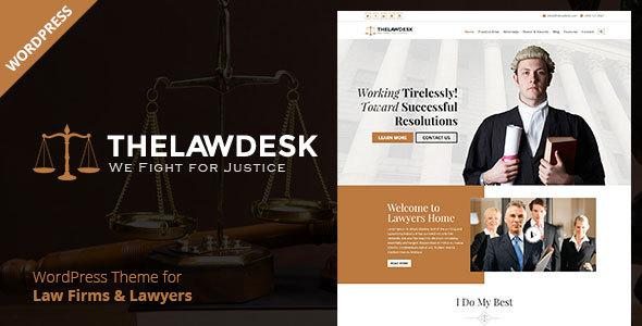 قالب Law Desk - قالب وردپرس وکالت
