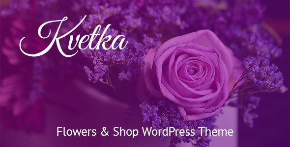قالب Kvetka - قالب وردپرس فروشگاه گل