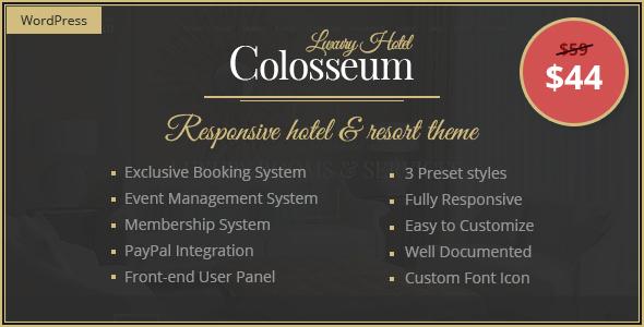 قالب Colosseum Hotel - قالب وردپرس هتل و تفرجگاه