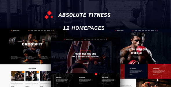 Absolute Fitness - قالب وردپرس چند منظوره