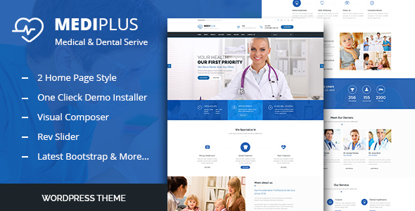 قالب Medi Plus - قالب سلامتی و پزشکی وردپرس