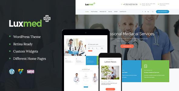 قالب LuxMed - قالب وردپرس پزشکی و بهداشت