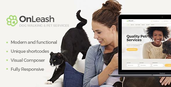 قالب OnLeash - قالب وردپرس خدمات حیوانات خانگی
