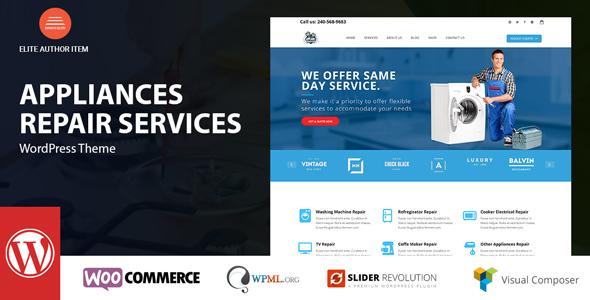 قالب Appliance - قالب سایت خدمات تعمیر لوازم خانگی