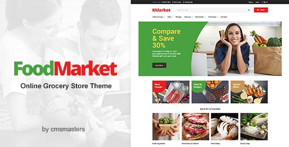 قالب Food Market - قالب وردپرس فروشگاه مواد غذایی