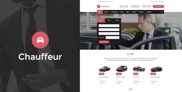 قالب Chauffeur - قالب سایت شرکت حمل و نقل و اجاره خودرو