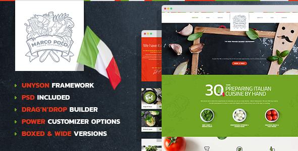 قالب MarcoPolo - قالب وردپرس برای رستوران