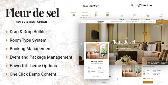 Fleurdesel - قالب وردپرس رزور هتل