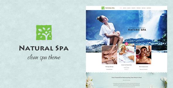قالب Nature Spa - قالب وردپرس سالن زیبایی و ماساژ
