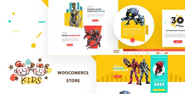 قالب Kids - قالب وردپرس سایت فروشگاه کودکان