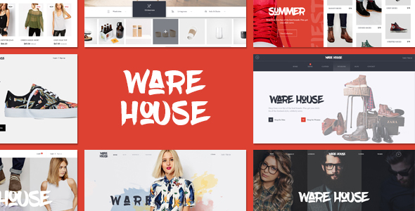 قالب Warehouse - قالب فروشگاهی چند منظوره