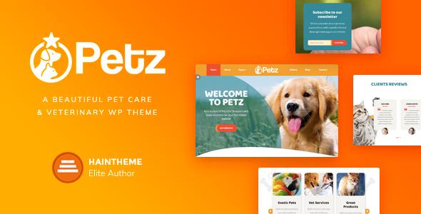 قالب Petz - قالب وردپرس حیوانات خانگی و دامپزشکی