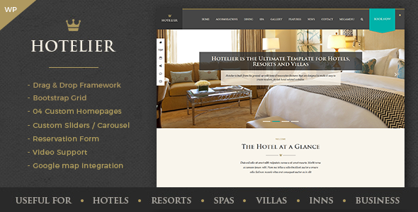 قالب Hotelier - قالب وردپرس هتل و گردشگری