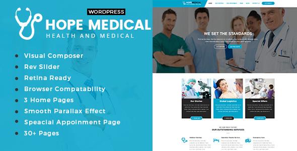 قالب Hope Medical - قالب سلامتی و پزشکی وردپرس