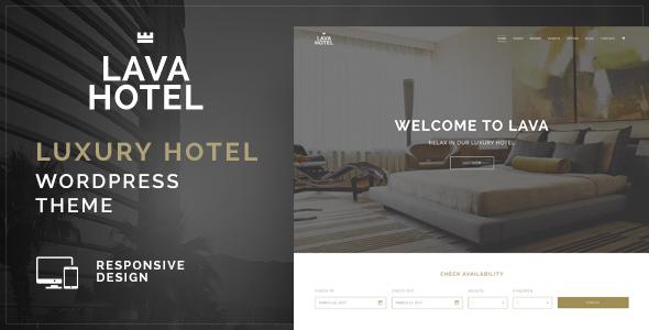 قالب Lava - قالب سایت وردپرس هتل