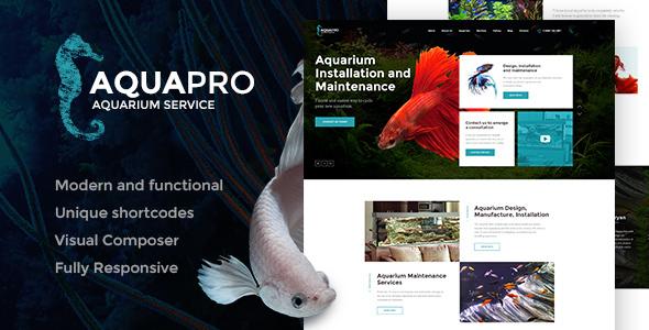 قالب AquaPro - قالب وردپرس خدمات آکواریوم و فروشگاه آنلاین