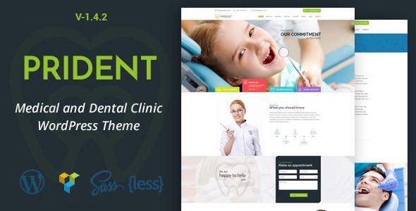 Prident - پوسته وردپرس کلینیک پزشکی و دندانپزشکی