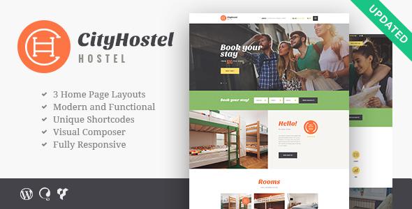 قالب City Hostel - قالب وردپرس مسافرت و رزرو هتل