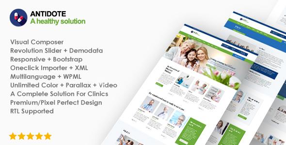 قالب Antidote - قالب وردپرس سلامتی و پزشکی
