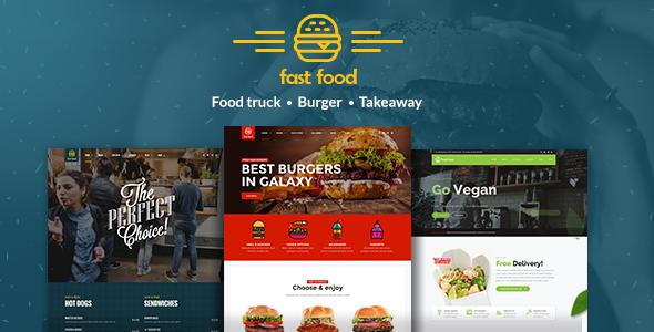 قالب Fast Food - قالب وردپرس فست فود
