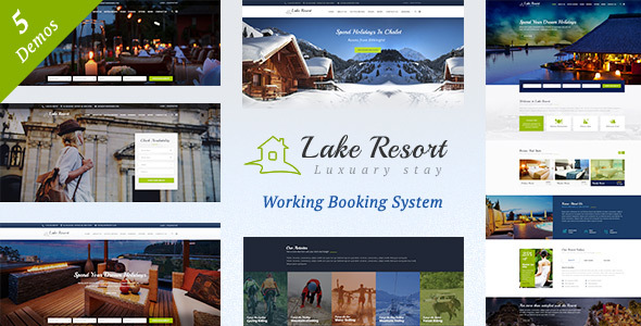 قالب Lake Resort - قالب وردپرس هتل