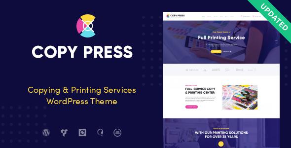قالب CopyPress - قالب وردپرس خدمات تایپ و چاپ