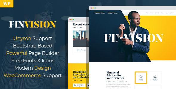 Finvision - قالب وردپرس حسابرسی مالی و مشاوره