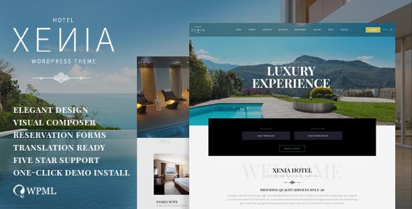 قالب HOTEL XENIA - قالب وردپرس هتل