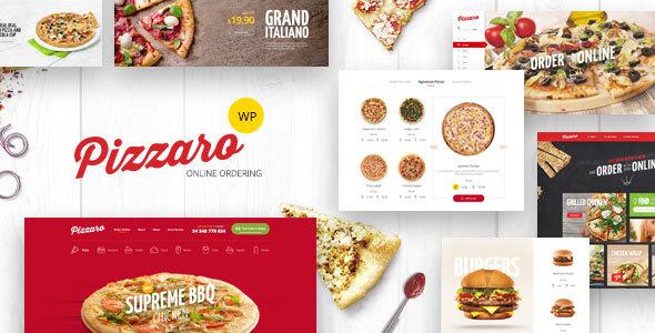 قالب Pizzaro - قالب وردپرس فست فود و رستوران