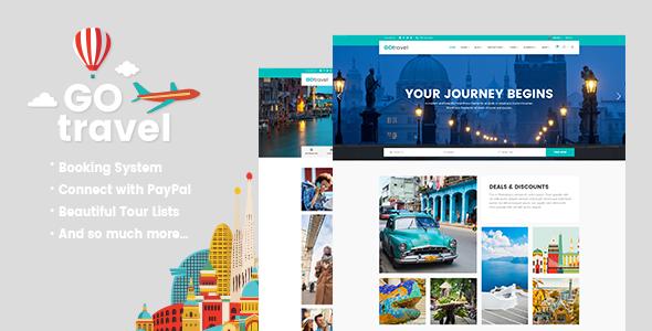قالب GoTravel - قالب آژانس مسافرتی و گردشگری