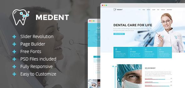 قالب Medent - قالب وردپرس کلینیک دندانپزشکی