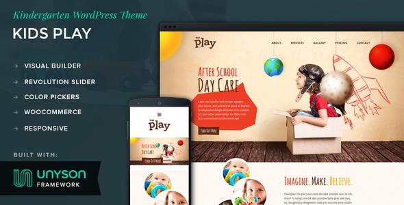 قالب Kids Play - قالب وردپرس مهدکودک