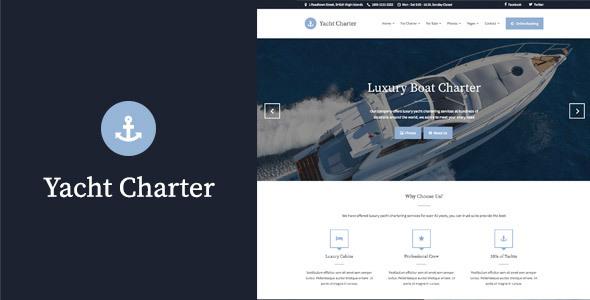 Yacht Charter - قالب وردپرس