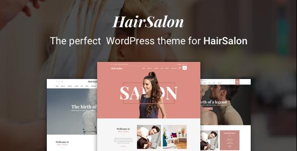 قالب Hair Salon WordPress Theme - قالب وردپرس سالن زیبایی