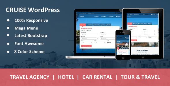 قالب Cruise - قالب وردپرس آژانس مسافرتی