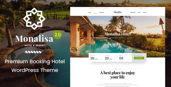 قالب Monalisa Hotel - قالب وردپرس هتل