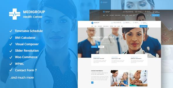 قالب Medigroup - قالب پزشکی و سلامتی مدرن برای وردپرس